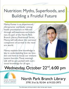 Nutrition talk by Manny Kumar 10-22