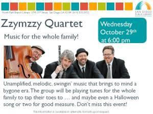 Zzymzzy Quartet 10-29-2014