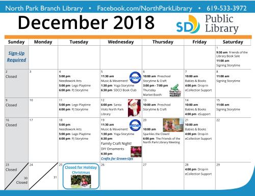 Dec 2018 Calendar 2
